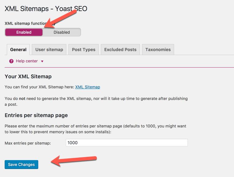 XML Sitemap feature Yoast SEO - Cómo crear un sitemap en WordPress con Google XML Sitemap.