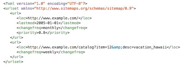 an example sitemap from sitemaps org - Google XML Sitemaps vs Yoast SEO, ¿Que Sitemap es mejor?