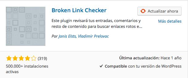plugin broken link checker - Los 5 plugins básicos de SEO para Wordpress