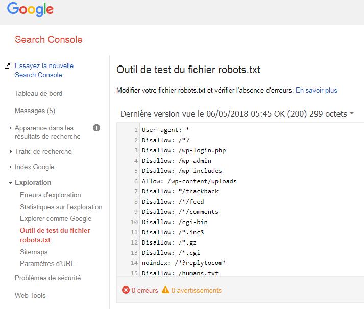 Outil robots.txt search console - El archivo robots.txt y el SEO, una historia de amor.