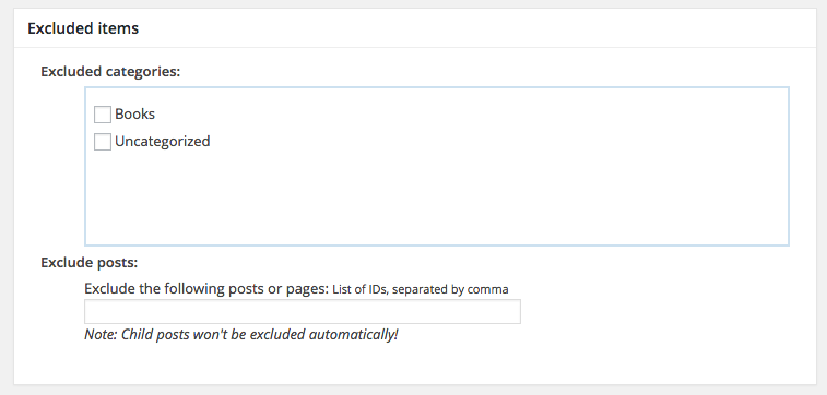 exclude - Google XML Sitemaps vs Yoast SEO, ¿Que Sitemap es mejor?