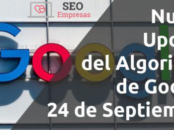 Google publicará una actualización de algoritmo de núcleo amplio hoy, 24 de septiembre
